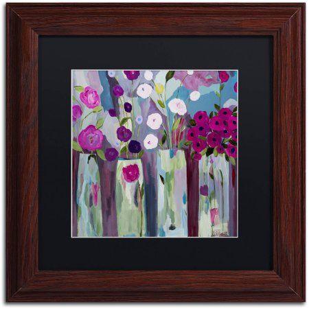 Trademark Fine Art Que Sera Sera Canvas Art by Carrie Schmitt, Black Matte, Wood Frame, Size: 11 x 11, Brown