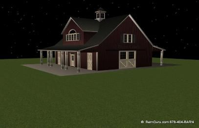 A Five Stall Barn With 3 Bedrooms. Adjust The Floor Plan To A Larger Living