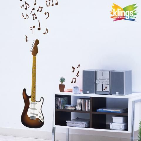 Vinilos decorativos notas musicales m sica guitarra for Stickers decorativos