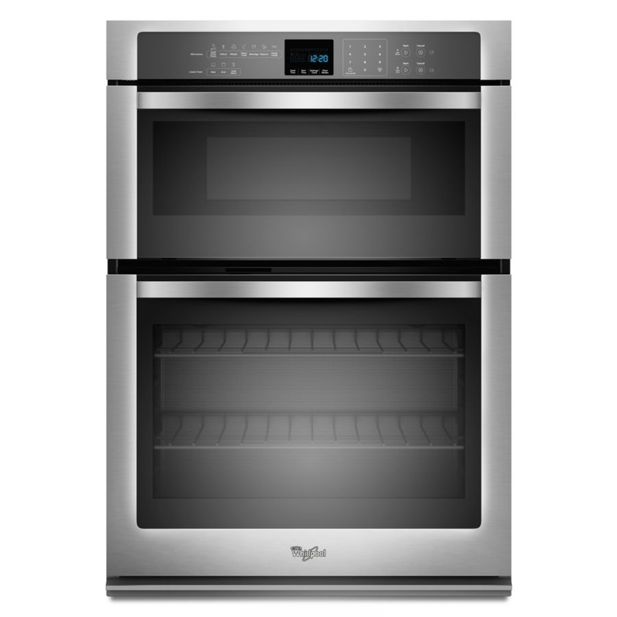 Shop Whirlpool Self-Cleaning Microwave Wall Oven Combo (Stainless Steel) (Common: 30-in; Actual: 30-in) at Lowes.com
