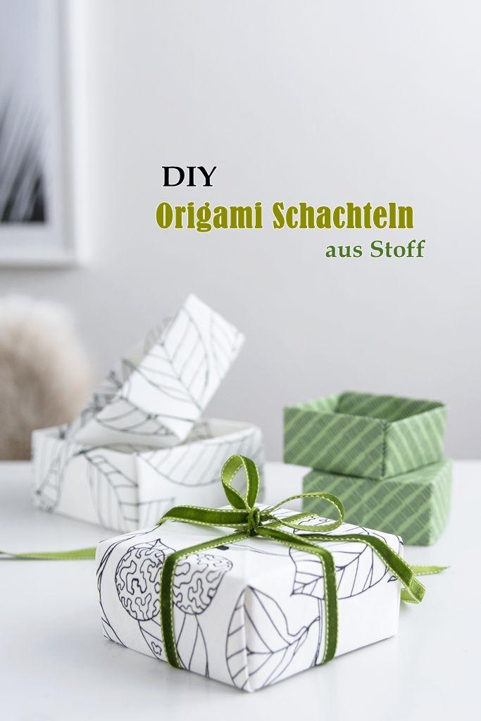 DIY: Origami aus Stoffresten + Anleitung für einfache Schachteln