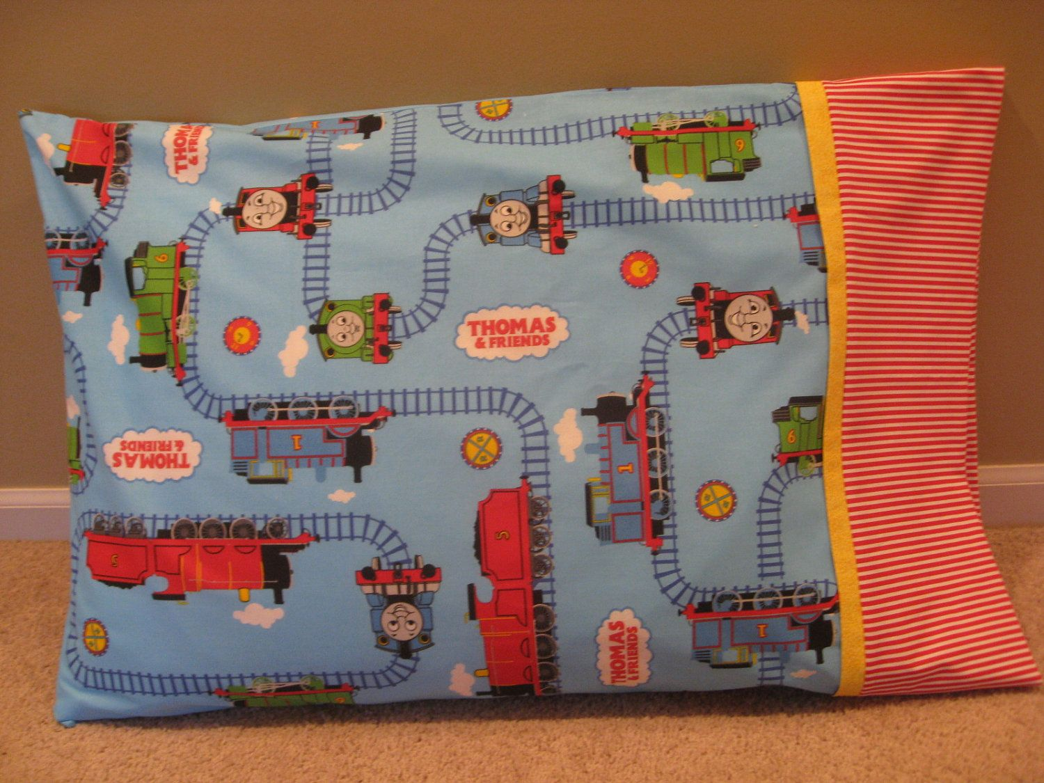 Thomas The Train Pillowcase Extraordinary Thomas Pillow Case  Wy Wy  Pinterest  Thomas The Tank Engine And 2018
