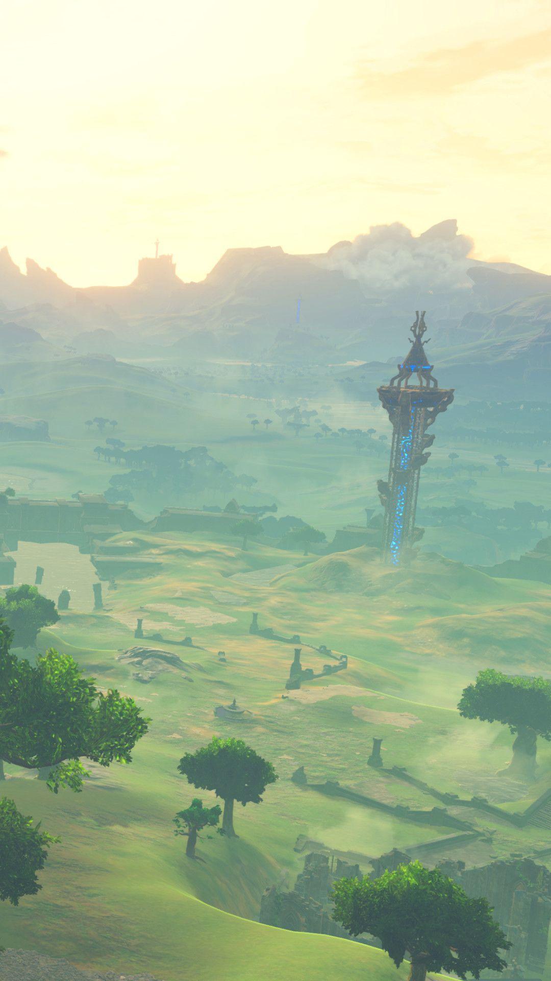 1080x1920 Download Iphone Legend Of Zelda Breath Legend Of Zelda Fantasy Landscape
