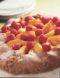 Peach And Raspberry Crostata - Healthy Recipe Finder | Prevention
