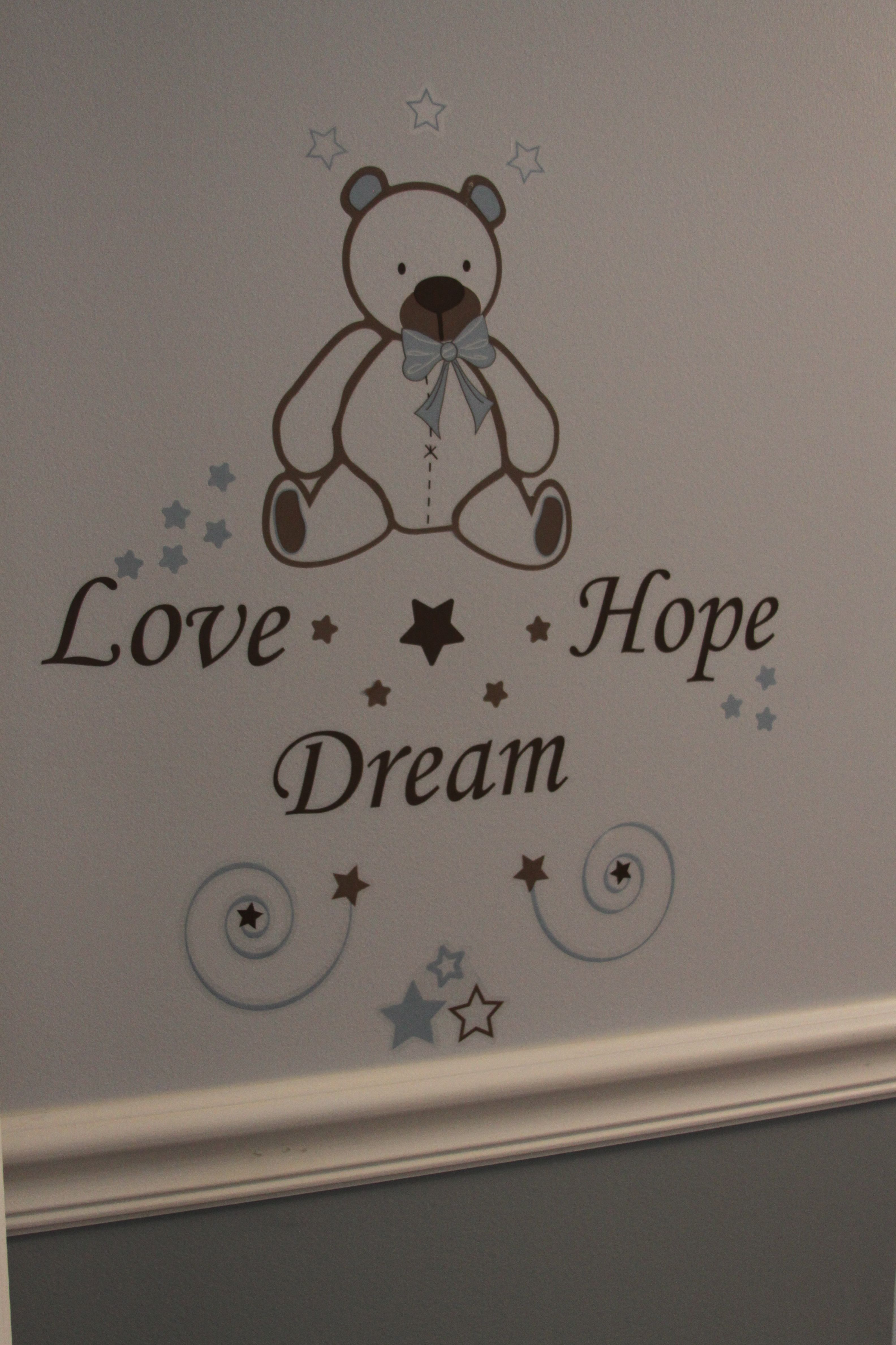Could Do It In Pink Or Blue Just Wish That My Walls Were Smooth - How to put a decal on my wall