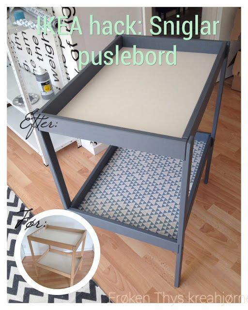 IKEA hack Sniglar puslebord Baby Pinterest