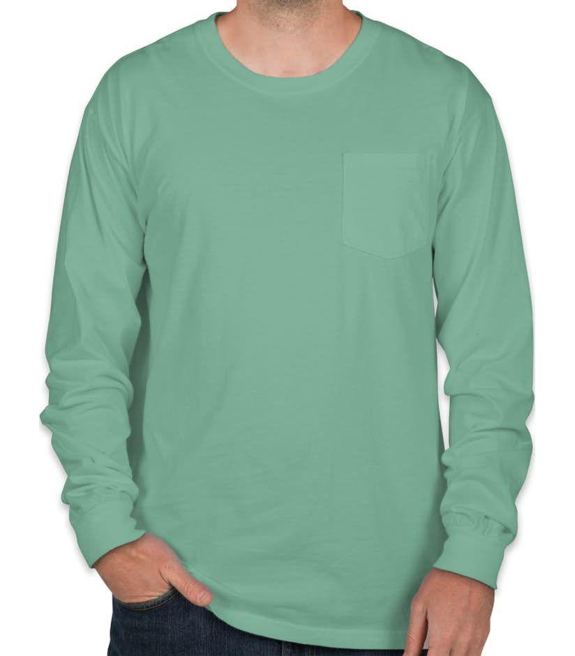 1f452d50 Comfort Colors Long Sleeve Pocket T-Shirt - White | make: clothes ...