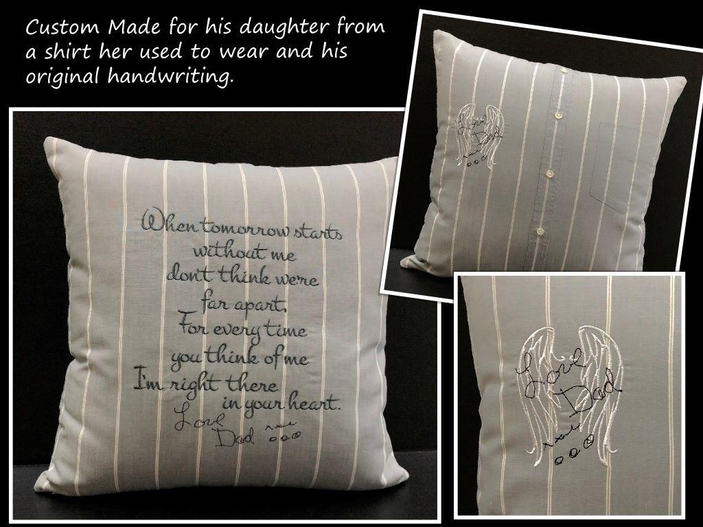 Handwriting Pillow, Memory Pillow