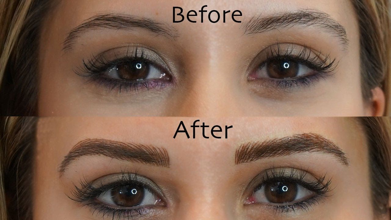 Microblading Eyebrows See My Before And After Results Hair