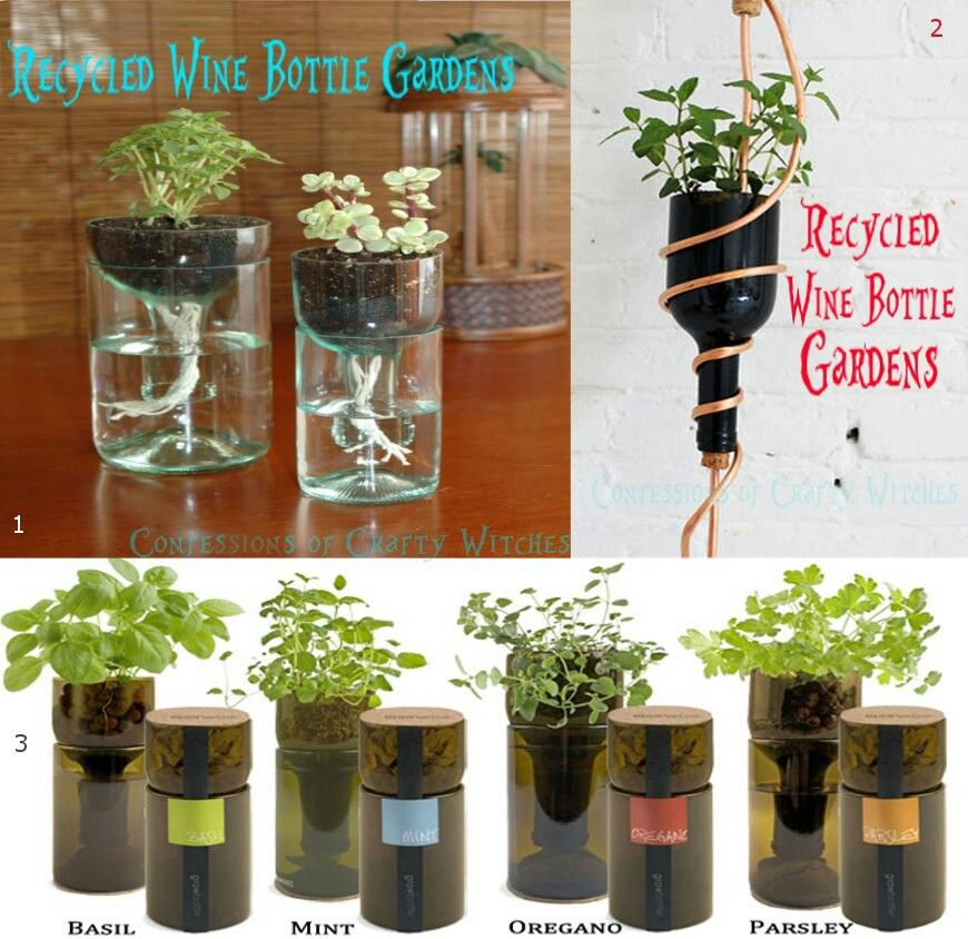 Recycled wine bottle gardens | Things I hope to make someday | Pinter ...