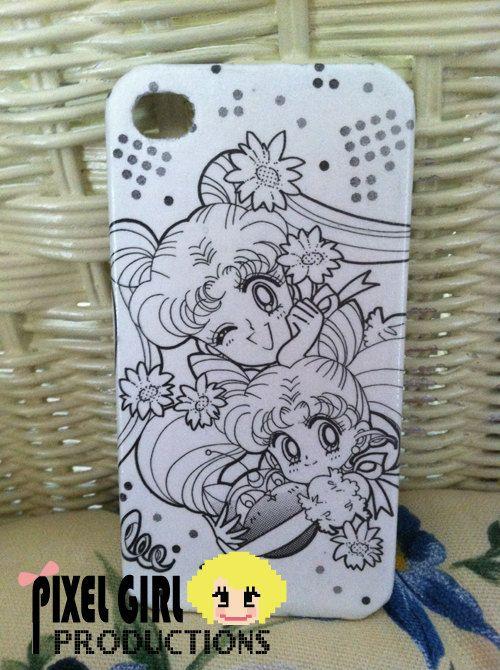 Sailor Moon Manga iPhone 4 4s cover. $17.00, via Etsy.