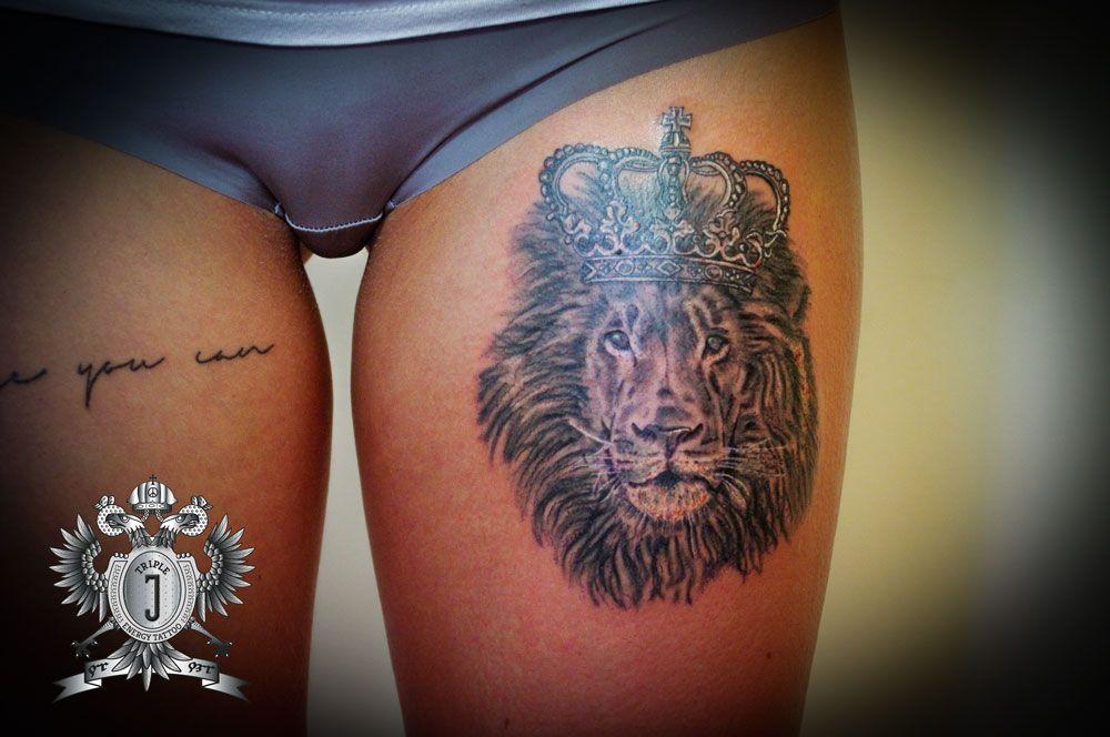 loewe lion liontattoo loewentattoo crown krone. Black Bedroom Furniture Sets. Home Design Ideas