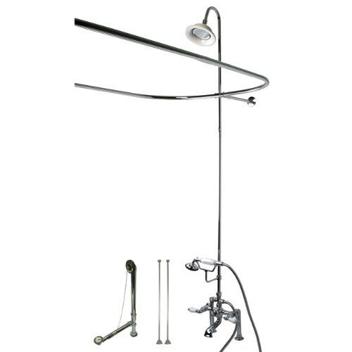 Clawfoot Tub Shower Kit Chrome From Kingston Brass Clawfoot Tub