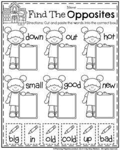 Back to School First Grade Worksheets | Speech and Crafts ...