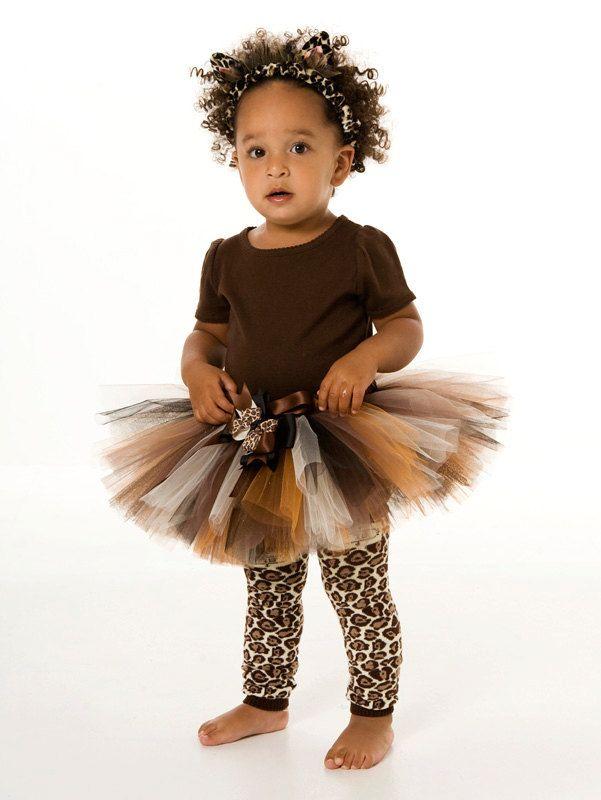 Baby Cutie Cat Costume Toddler Leopard Tutu Halloween Fancy Dress Girls Kids