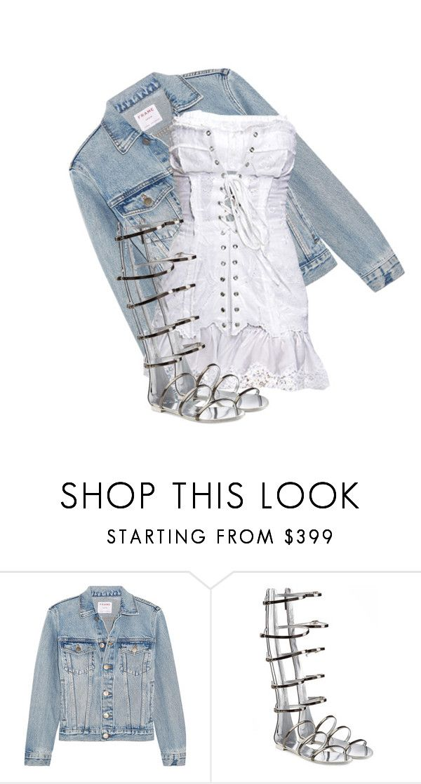 """""""Untitled #961"""" by antonela-475 ❤ liked on Polyvore featuring Frame, Dolce&Gabbana and Giuseppe Zanotti"""