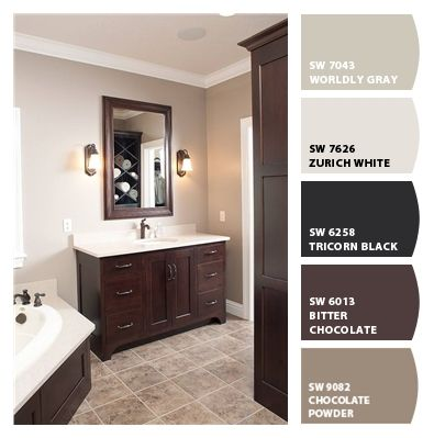 Paint Colors From Colorsnap By Sherwin Williams Bathroom Brown Tile