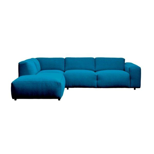Modern Earth Nora Bank Hoekbank links 3-zits Stof Vayla - Turquoise