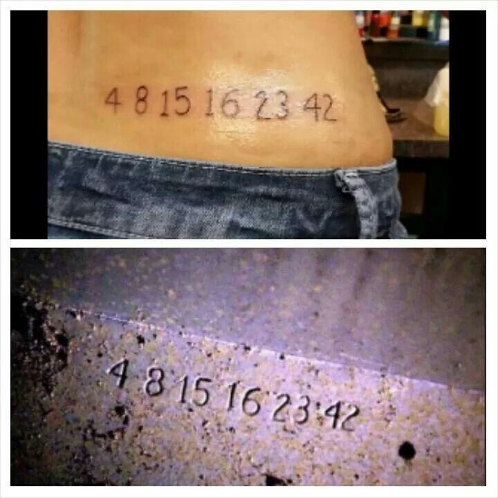 Tattoo With The Numbers From The Show Lost 4 8 15 16 23 42