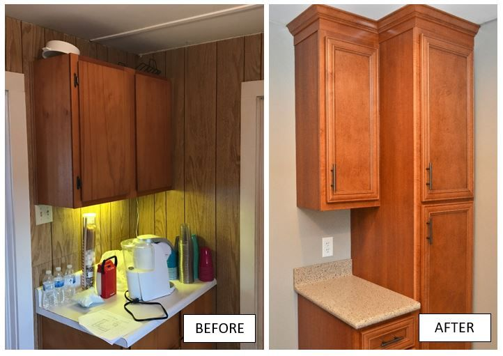 Bailey's Cabinets, Kountry Wood Products, Maple, Rustic ...