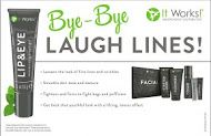Bye Bye laugh lines. Lip & Eye Moisturizing Cream Gel. Tightens and Firms. Fights bags & puffiness. #skincare www.okgethealthy.com