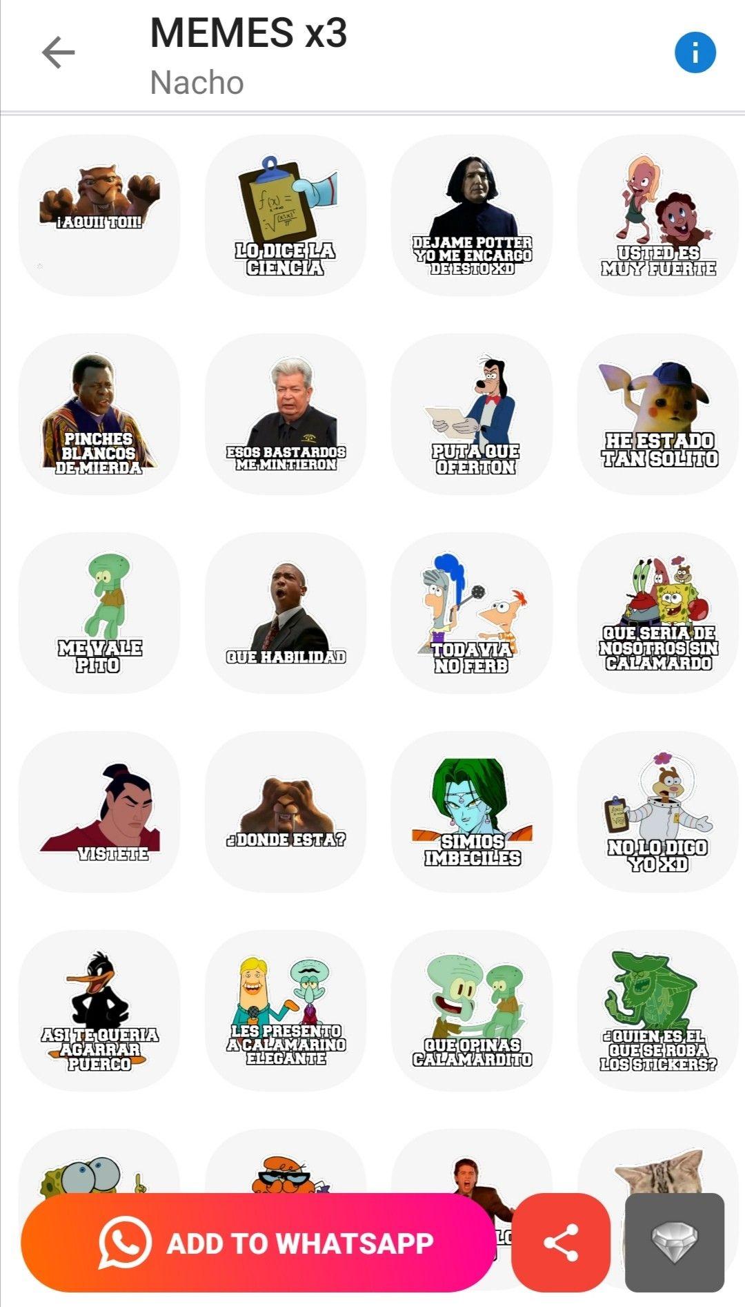 Stickers De Memes X3 Estados Para Whatsapp Memes Programas De Television