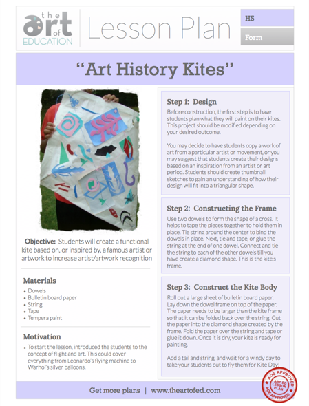 Art History Kites Free Lesson Plan Download Art Ed Articles