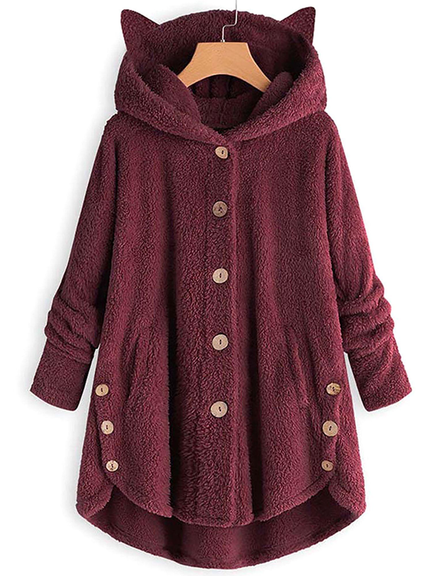 Lallc Women S Casual Faux Fur Hooded Coats Fleece Jackets Plus Size Outerwear Walmart Com Casual Faux Fur Faux Fur Hooded Coat Girls Winter Fashion [ 2000 x 1500 Pixel ]