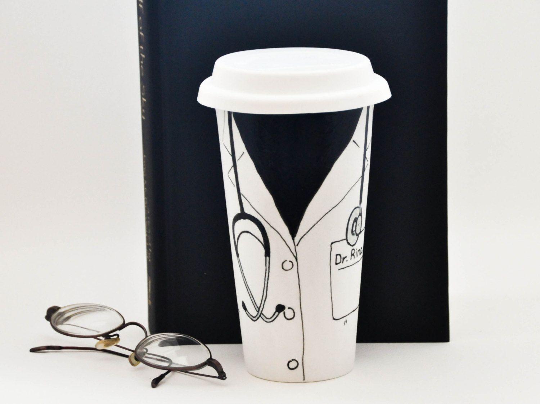 Doctor Coat Mug With Name Personalized Travel Custom