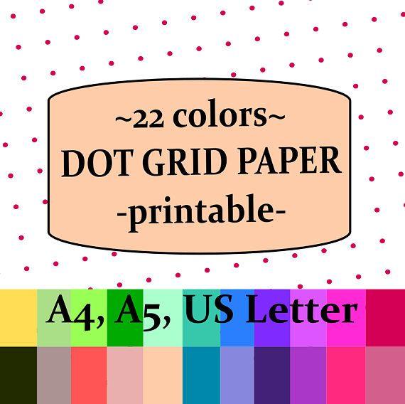 Dot Grid Paper, Dot Grid Printable, Bullet Journal Pages, Planner - printable dot grid paper