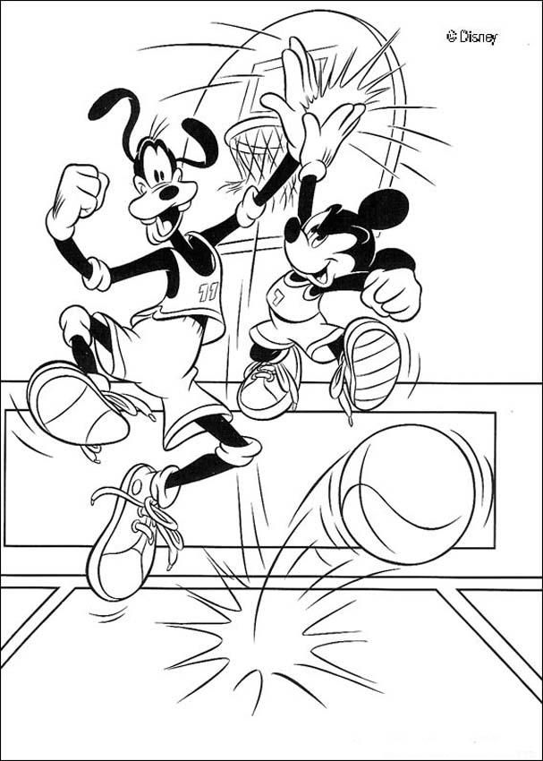 Discover This Amazing Coloring Page Of Mickey Movies Color And His Friends Basketball Match A Drawing For All Lover