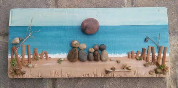 Pebble Art / Rock Art Family of Five painted on by CrawfordBunch