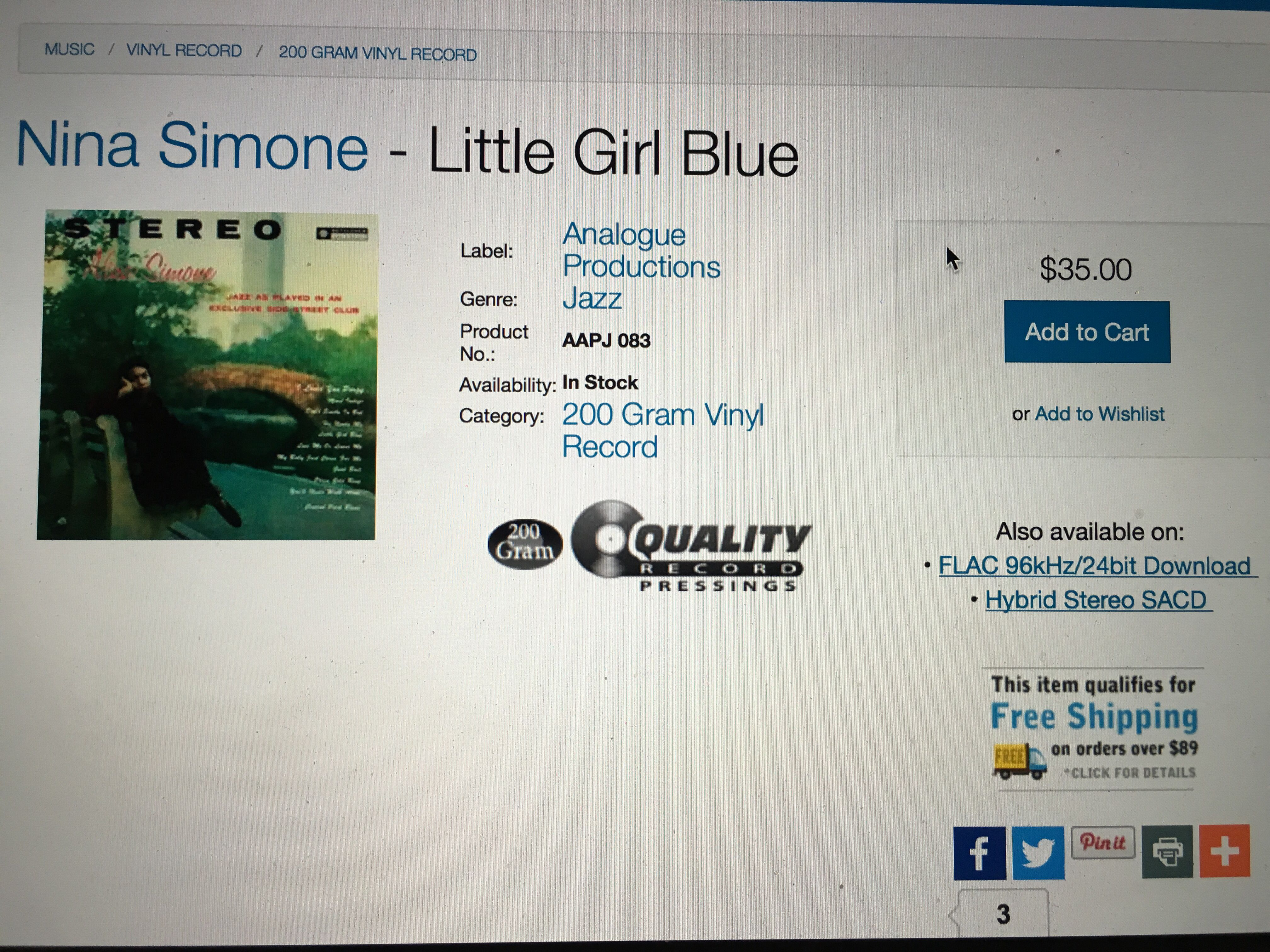 nina simone little girl blue vinyl pinterest nina simone