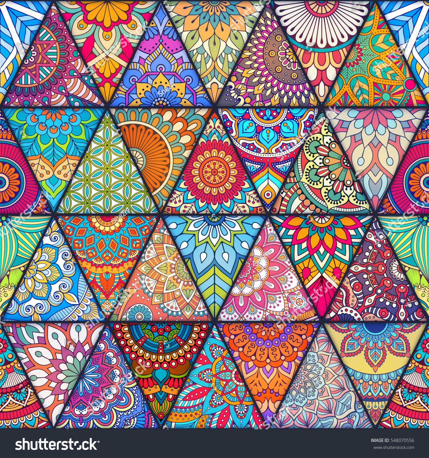 Seamless Mandalas Pattern Vintage Decorative Elements With Mandala Hand Drawn Mandala Background Islam Arabic Vintage Art Prints Mandala Background Prints