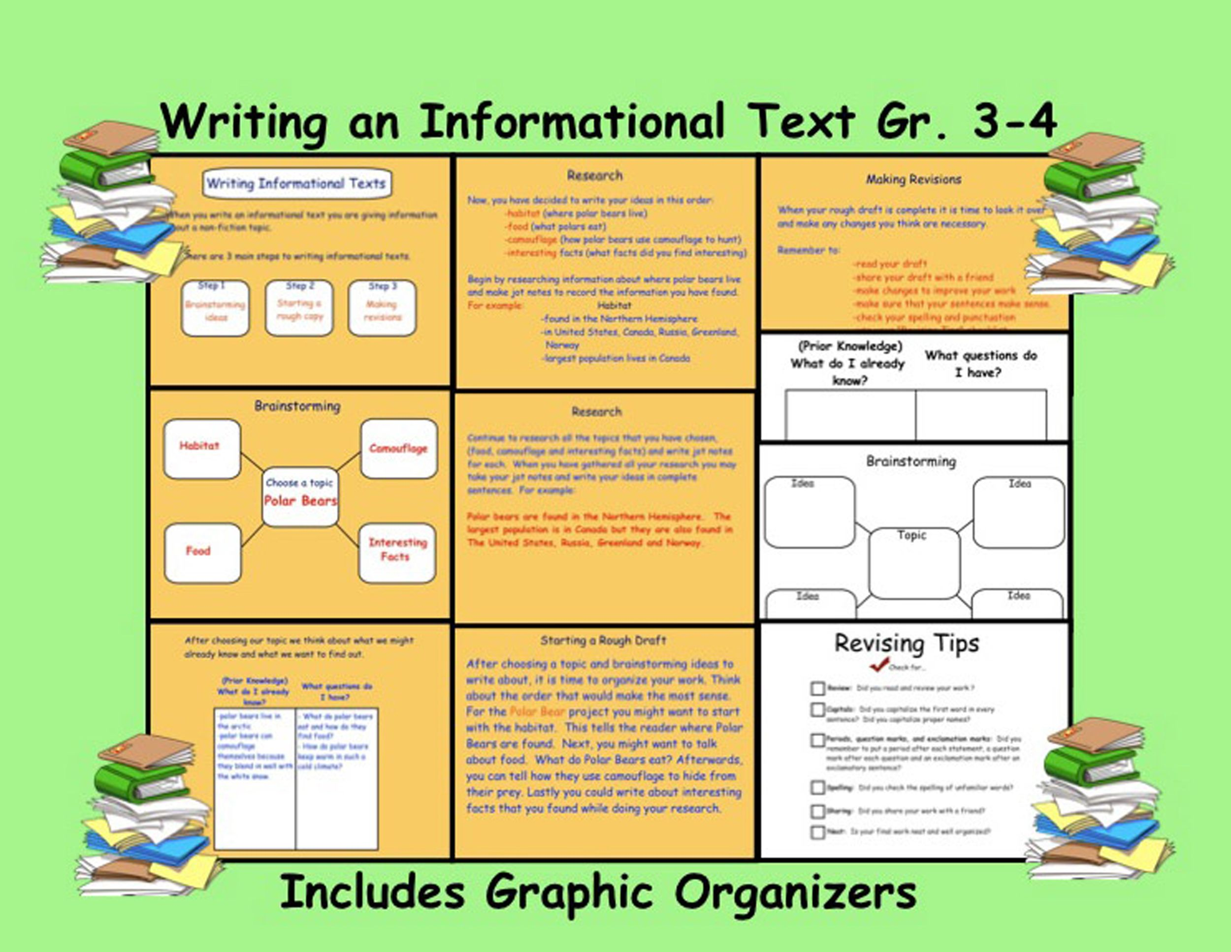 Writing An Informational Text Gr 3 4 With Printable