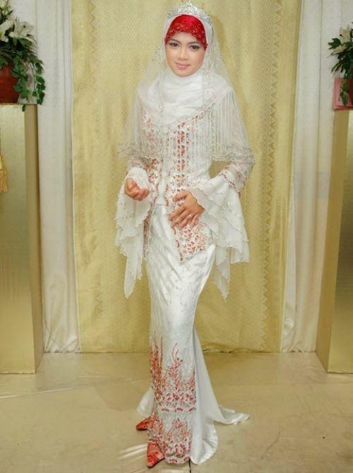 Baju Pengantin Muslim Modern Putih Elegan DESAIN BAJU