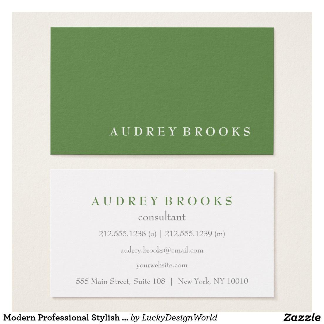 Modern professional stylish minimalist green business card modern modern professional stylish minimalist green business card reheart Gallery