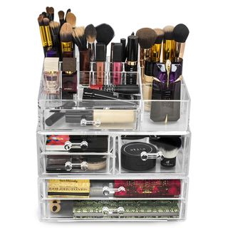 Ikee Design Acrylic Jewelry and Cosmetic Storage Display Box Set