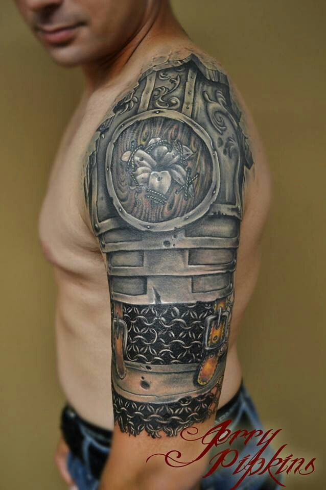 I Don T Find Enough Of These Kind Of Half Sleeves Love This Tatuagem De Armadura Tatoo Tatuagem De Armadura No Ombro