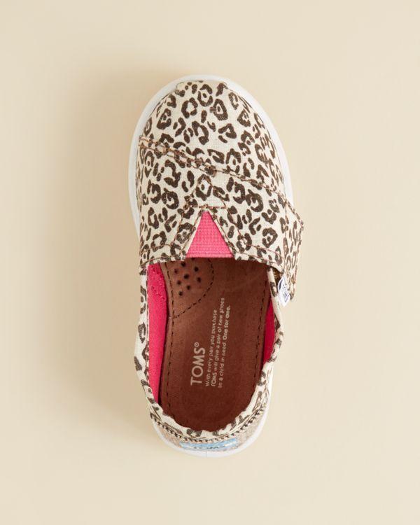 TOMS Girls' Metallic Leopard Print