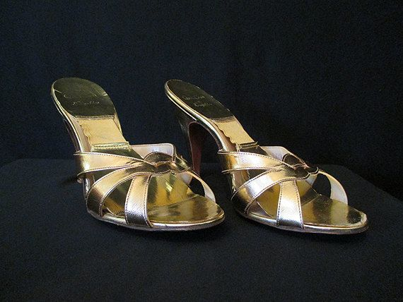 Sexy 1950's Shimmery Gold Springolators  by Quilt by wearitagain, $150.00