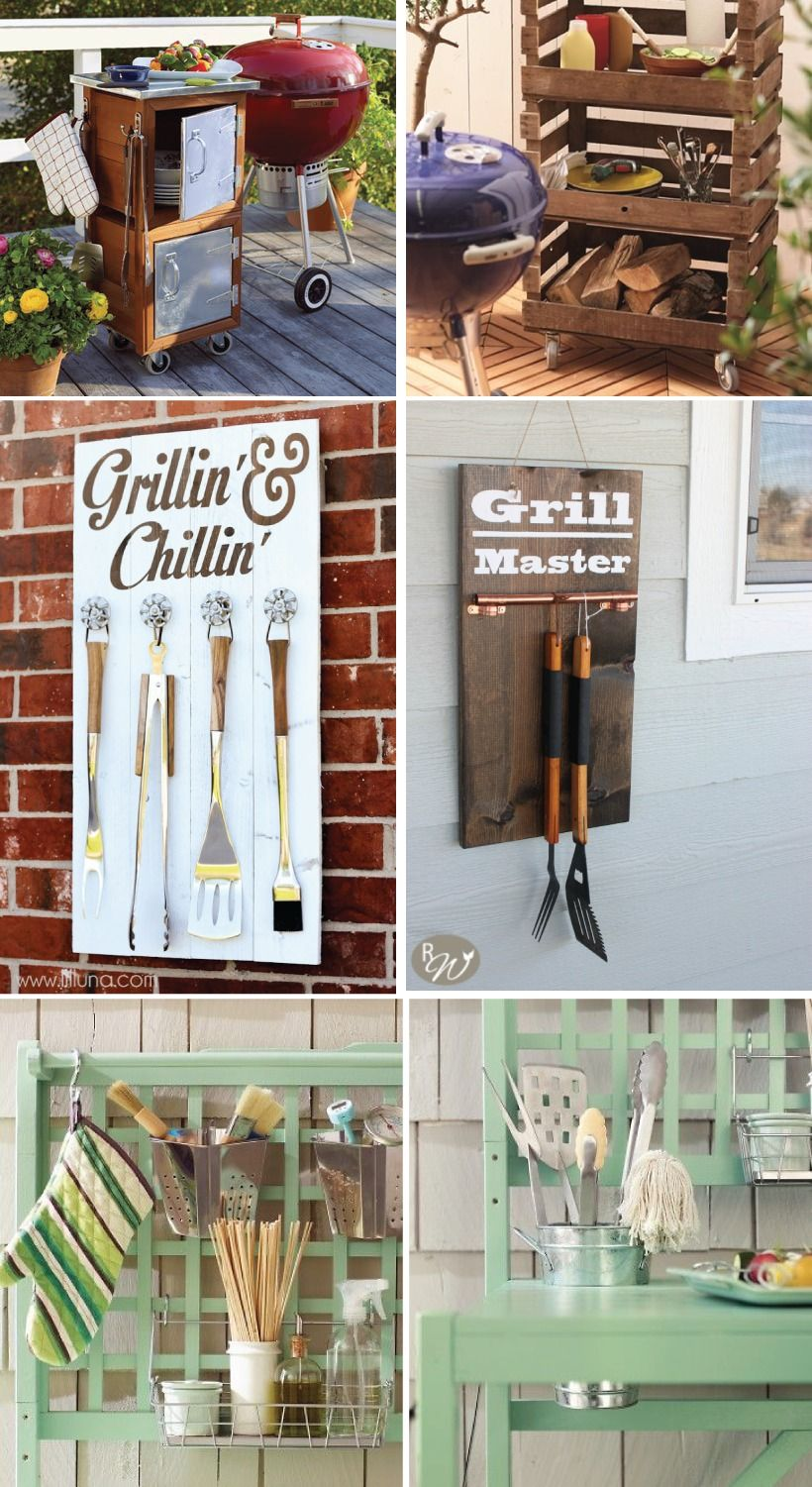 Grilling season is here but first some grill storage - Grill utensil storage ideas ...