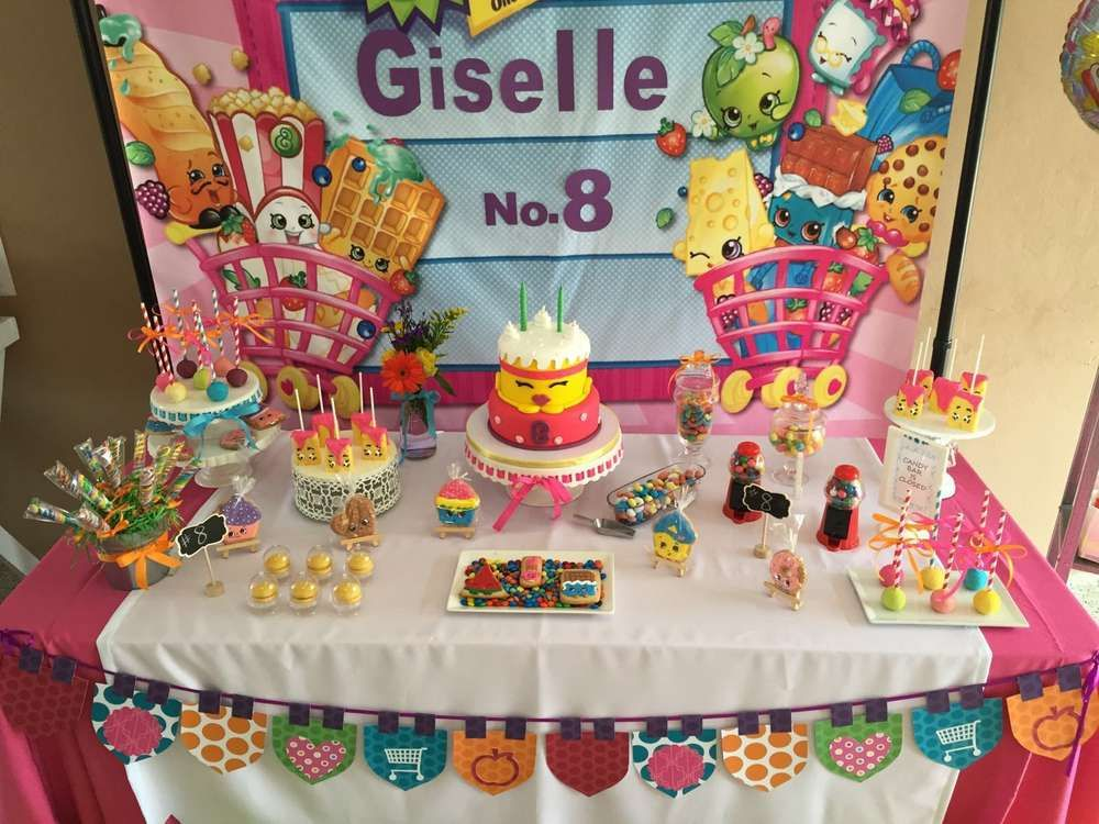 Superieur Colorful Dessert Table At A Shopkins Birthday Party! See More Party Ideas  At CatchMyParty.
