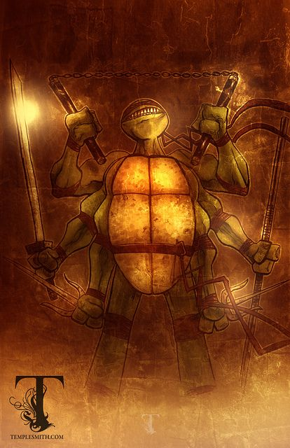 Vitruvian TMNT by Ben Templesmith, via Flickr