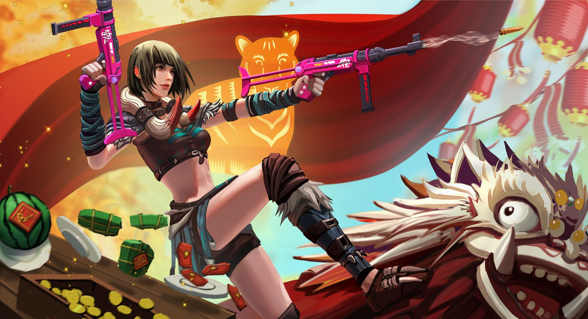ArtStation Kelly Free Fire Garena, Trung Tin Shinji Free