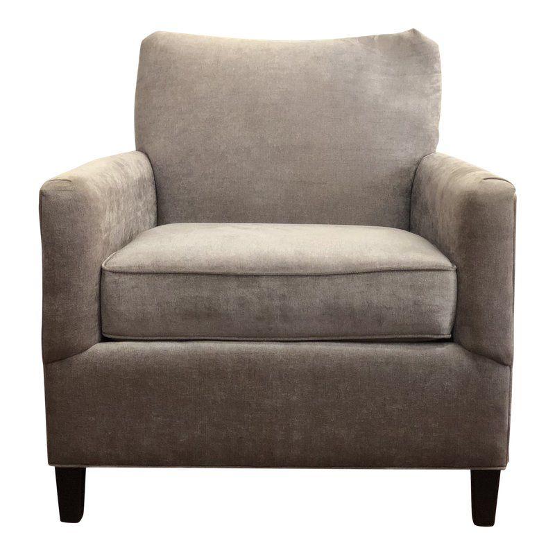 Modern norwalk antoniolight grey velvet occasional chair