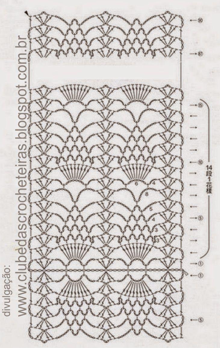 Irish Crochet Scarf Cowl Shawl Pinterest Patterns With Diagram Clube Das Crocheteiras More Than One Pattern Here