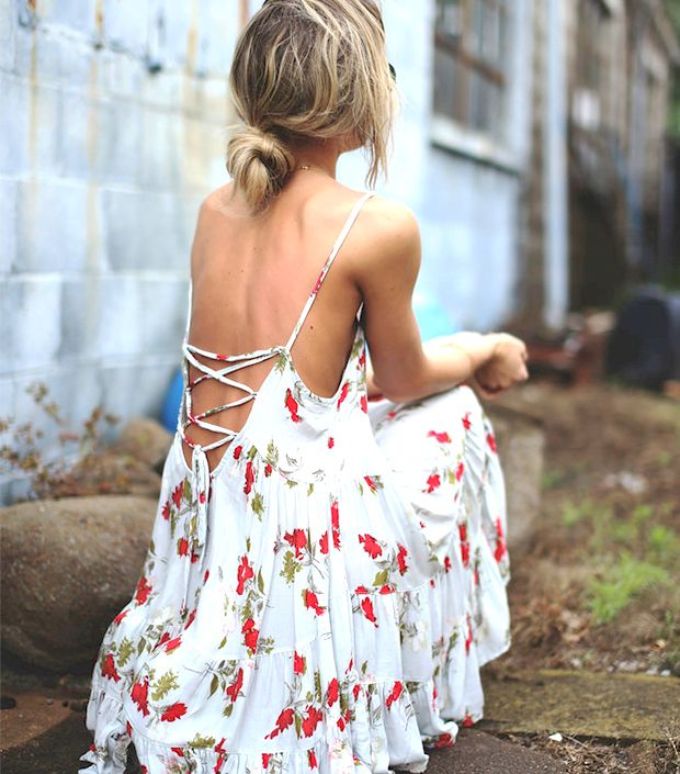 This pretty dress comes in so many awesome prints and colors. // Circle Of Flowers Slip Dress by Free People