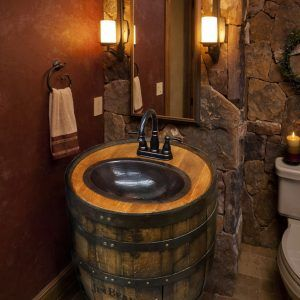 Wine Barrel Bathroom Vanity. Wine Barrel Bath Vanity