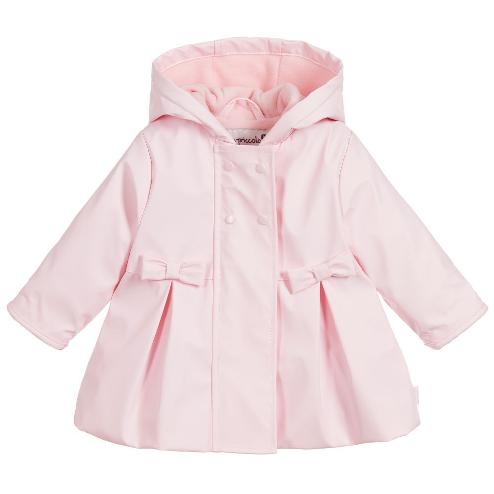 56fc8ee57c49 Girls Pink Raincoat for Girl by Tutto Piccolo. Discover more ...